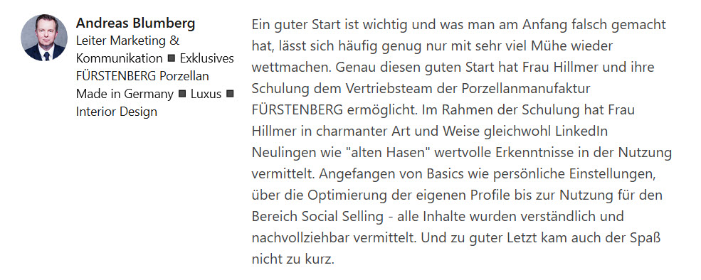 Online Schulung Social Selling